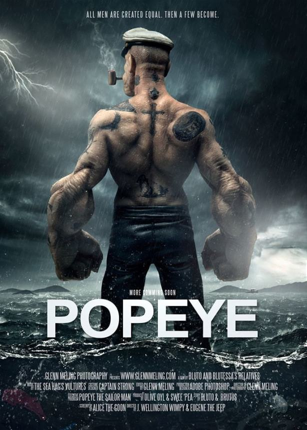 fanmade movie poster of the day � popeye blastzone mike